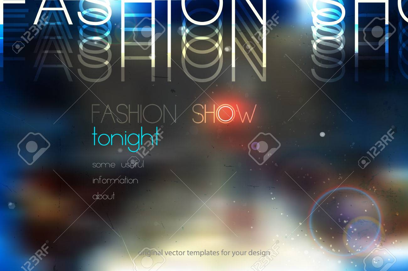 fashion show abstract vector background with blurred podium - 50378854