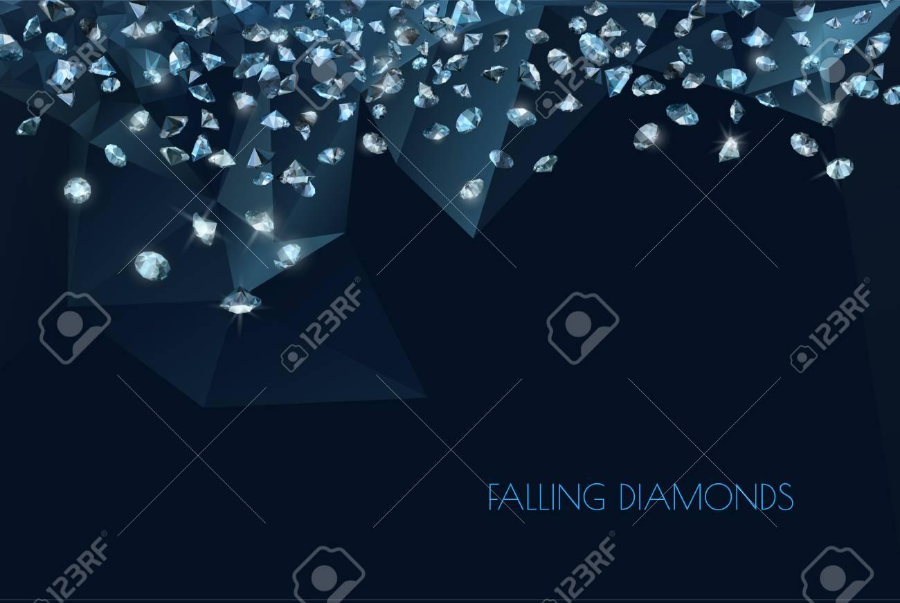 shiny diamonds background - 94367578