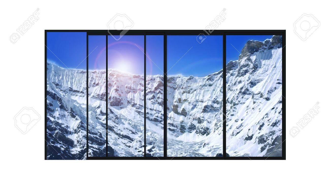 Isolerade Panorama 4 Delar Glidande Modern Aluminiumfönster Med ...