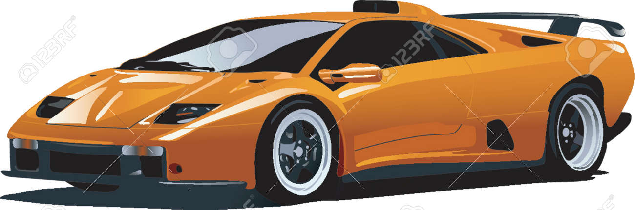 yellow sport car Stock Vector - 892712