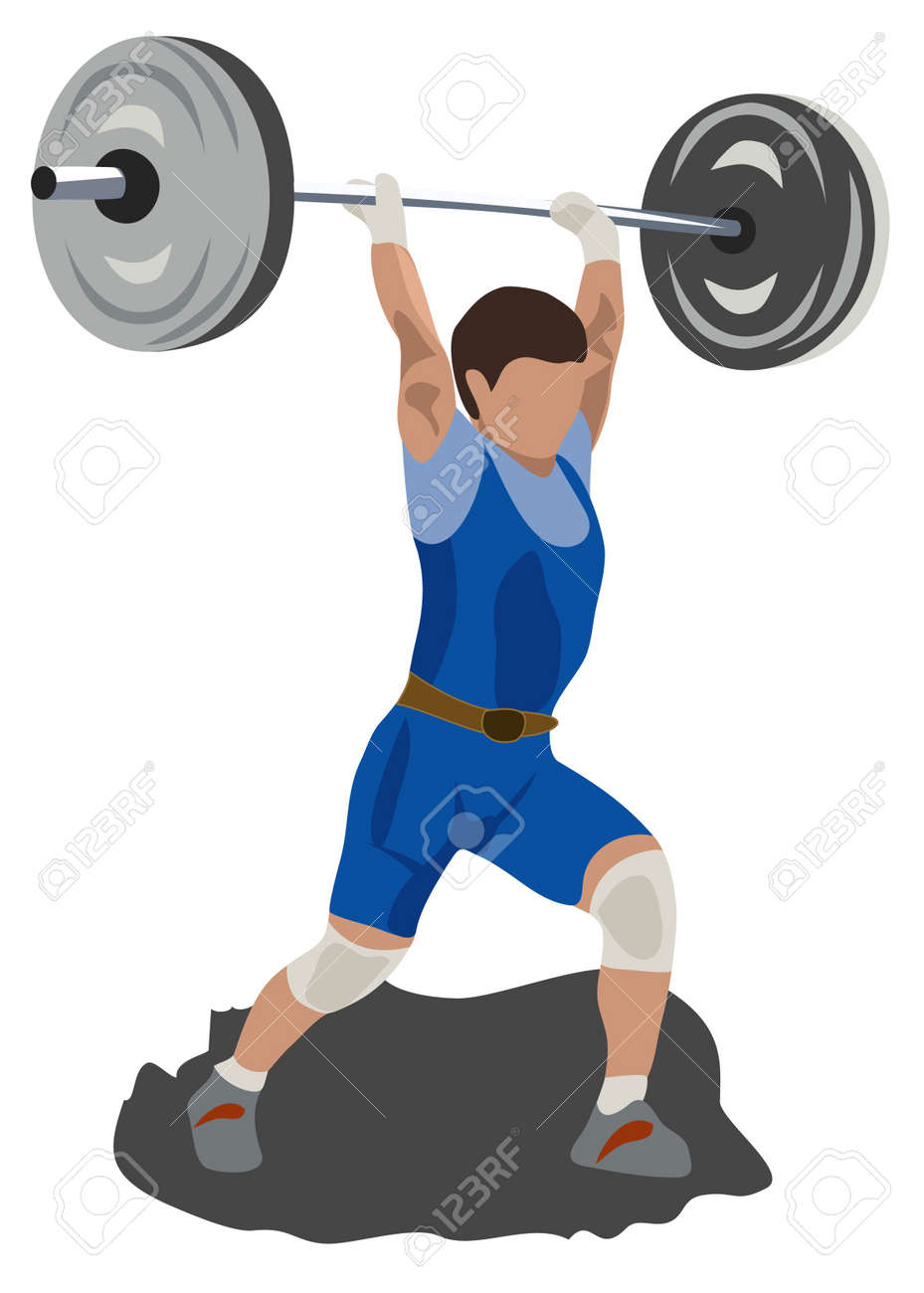 athlete lifting a weight Stock Photo - 3384824