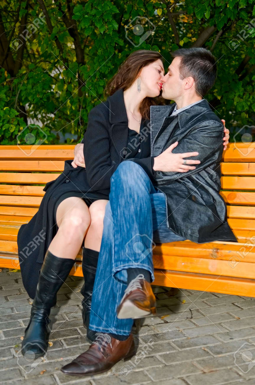 young loving couple kissing Stock Photo - 5692916