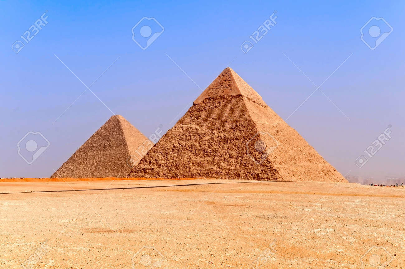 the pyramids of Giza, Egypt Stock Photo - 6331374