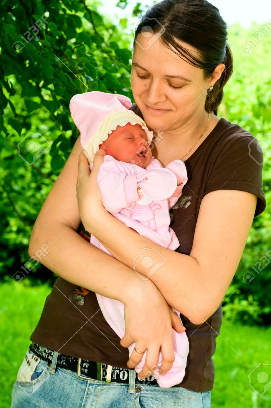 portrait of mother with child Stock Photo - 7294664