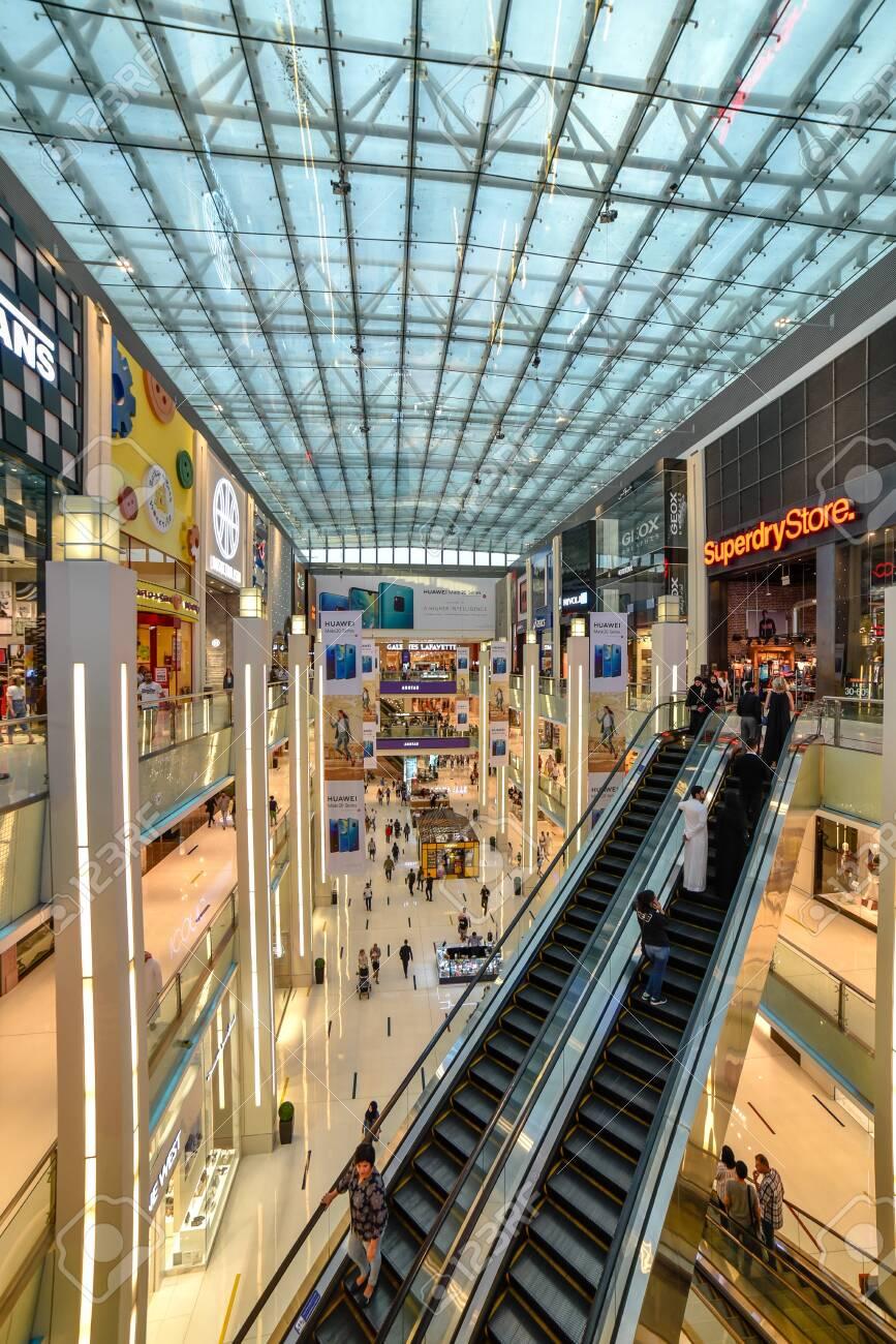 Dubai, United Arab Emirates – November 03, 2018, The Dubai Mall located in Downtown Dubai, beside the Burj Khalifa, biggest Mall in UAE, With a total internal floor area of 5.9 million sq ft. - 138120319