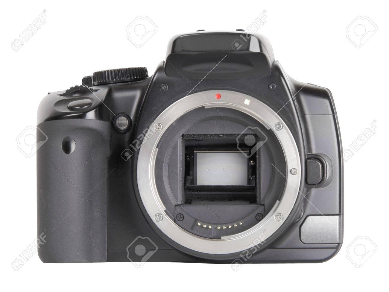 Camera Dslr Camera Without Lens black digital slr camera without lens isolated on white background stock photo 8662485