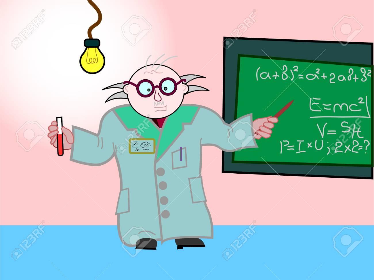 The teacher explains a new material at school Stock Vector - 4363719