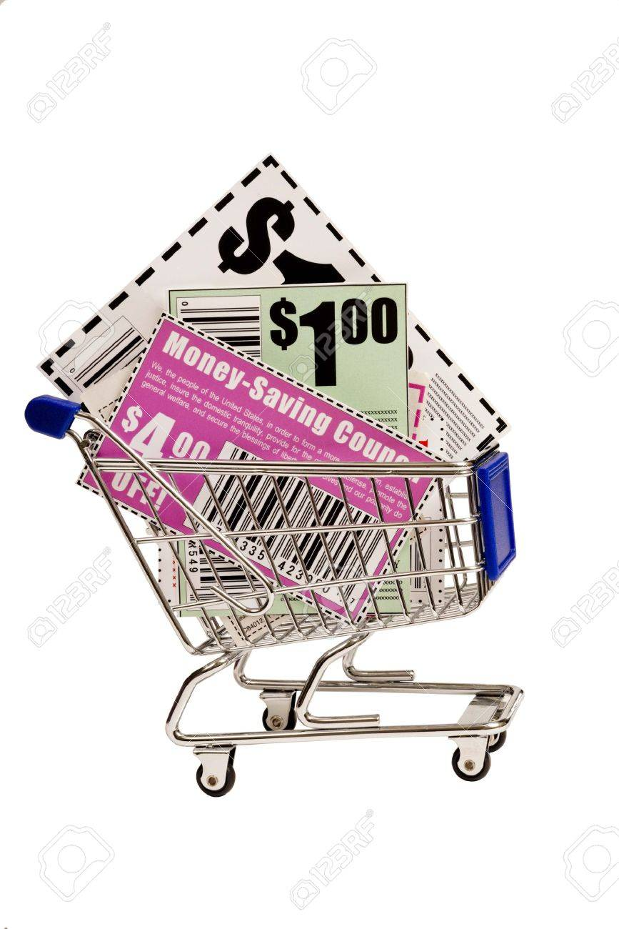 Coupons In Shopping Cart XXXL Stock Photo - 17223613