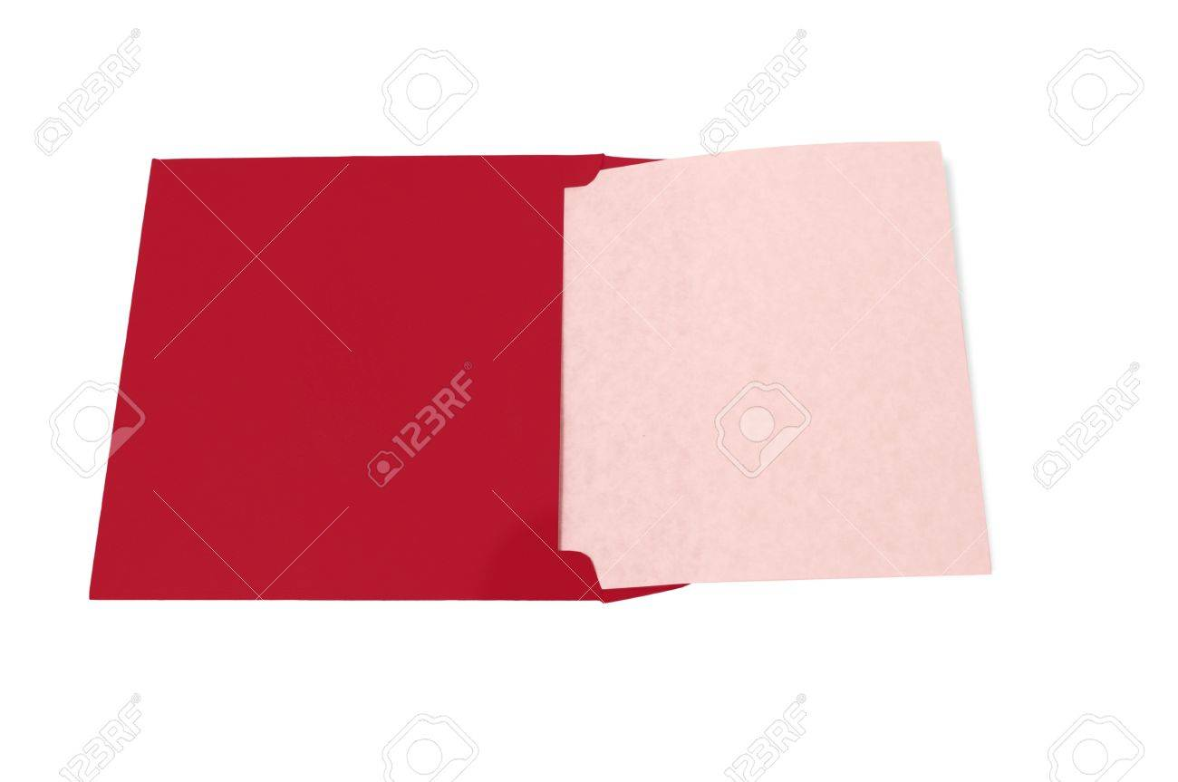 Colored card stock and envelopes - Big Red Envelope With A Light Pink Colored Blank Piece Of Paper Coming Out Of It
