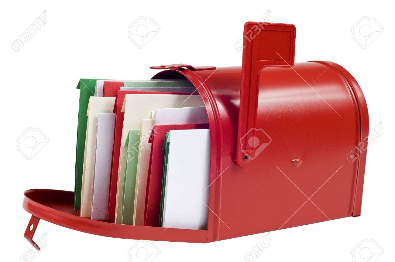 Christmas Cards Filling Mailbox Stock Photo Picture And Royalty Free Image Image 31779117