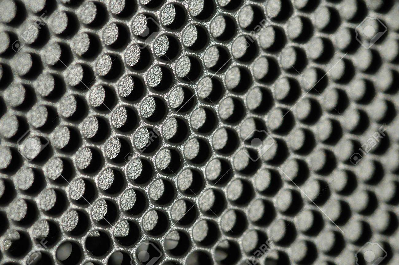 macro of sparkly metallic honeycomb panel Stock Photo - 809912