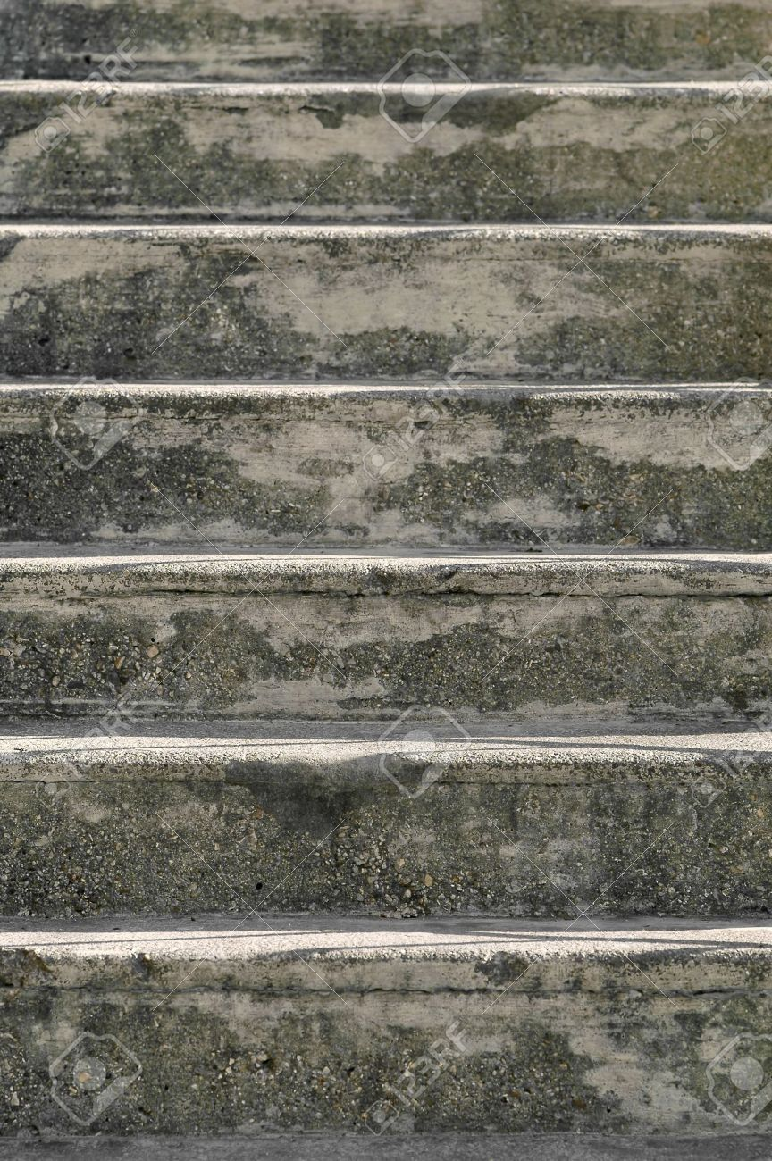 old painted concrete steps background stock photo