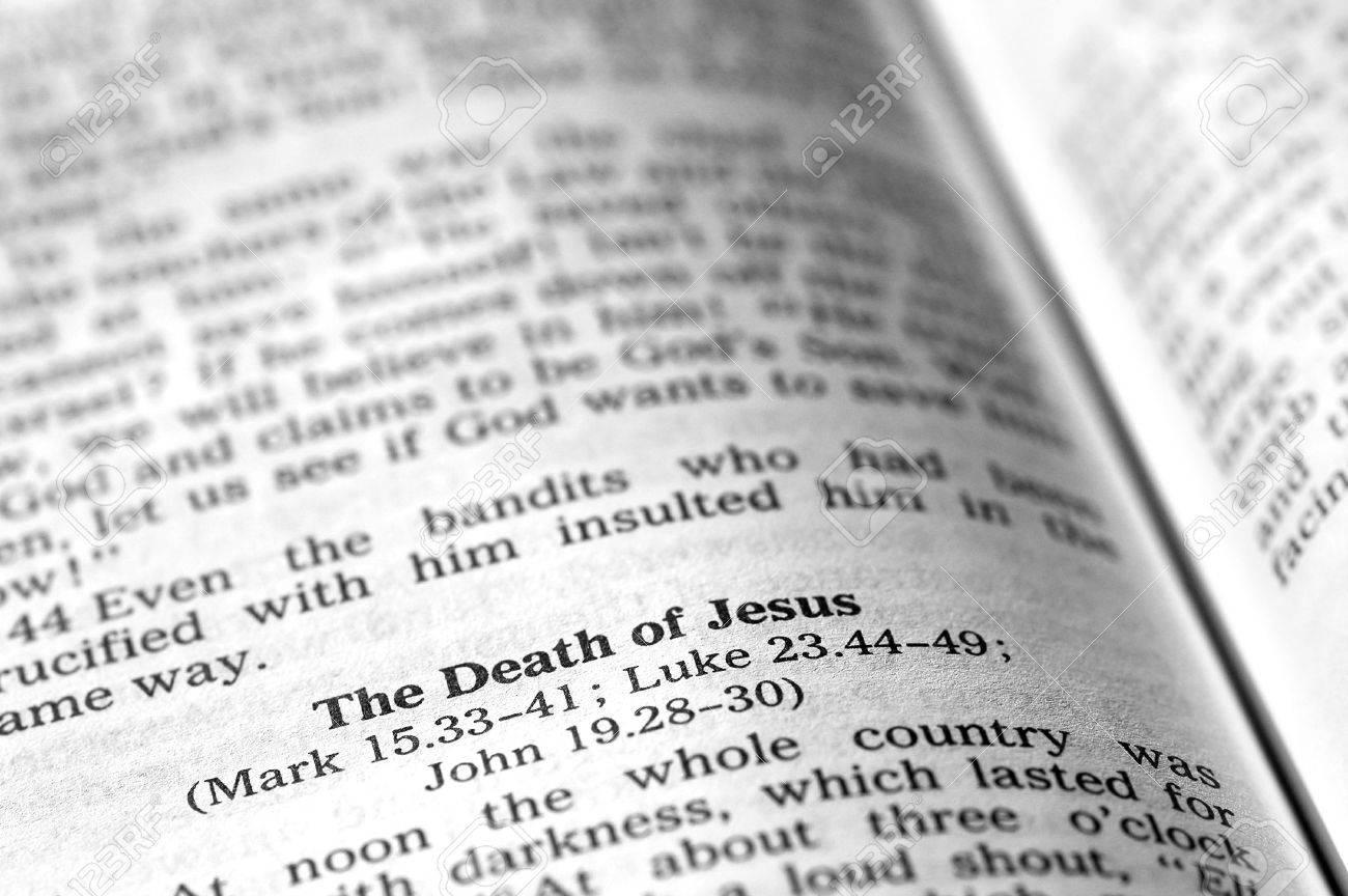 death of biblical scripture