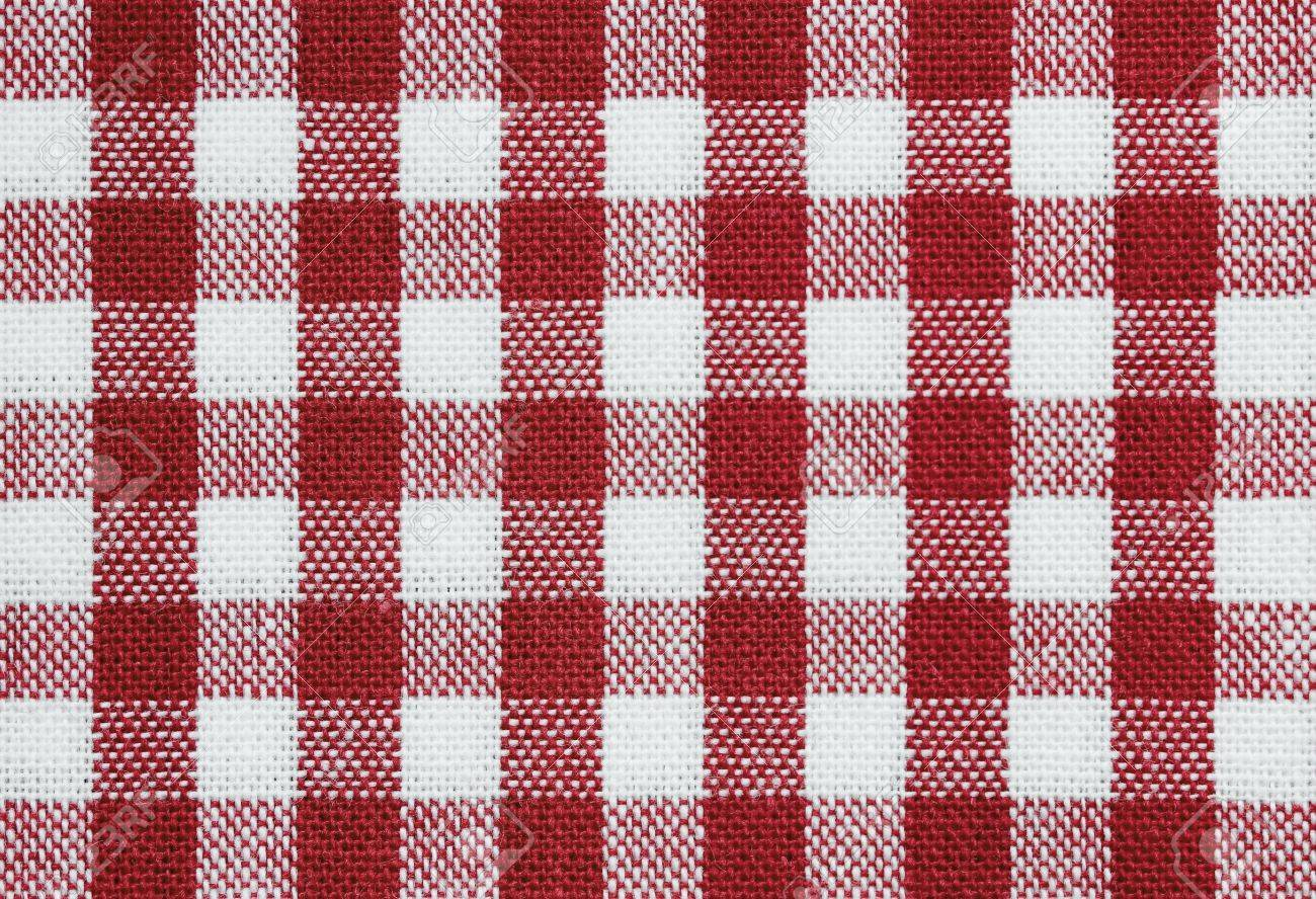 Background Of Red And White Check Tablecloth Fabric Stock Photo   9104615
