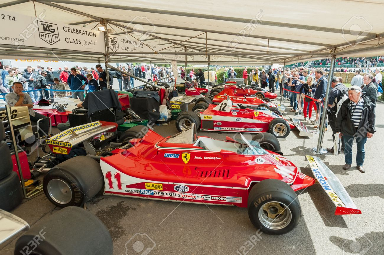 Goodwood Uk July 1 2012 Collection Of Classic Ferrari F1