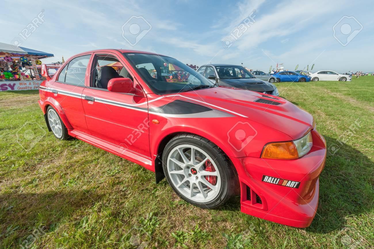 Dunsfold Uk August 26 2017 Collection Of Mitsubishi Lancer