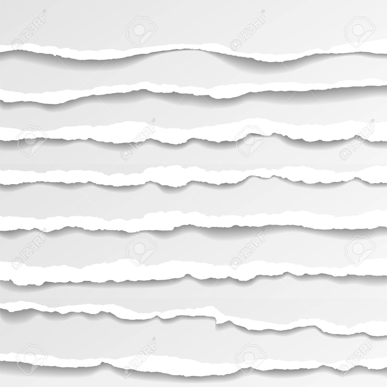torn paper edges, seamless horizontally texture, vector isolated