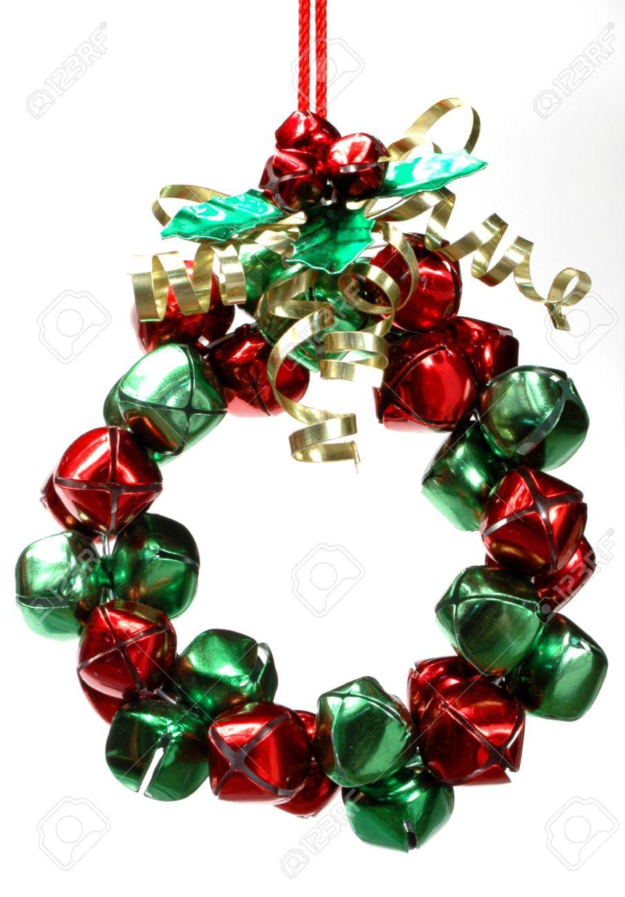 Christmas wreath ornament made of jingle bells - 624421