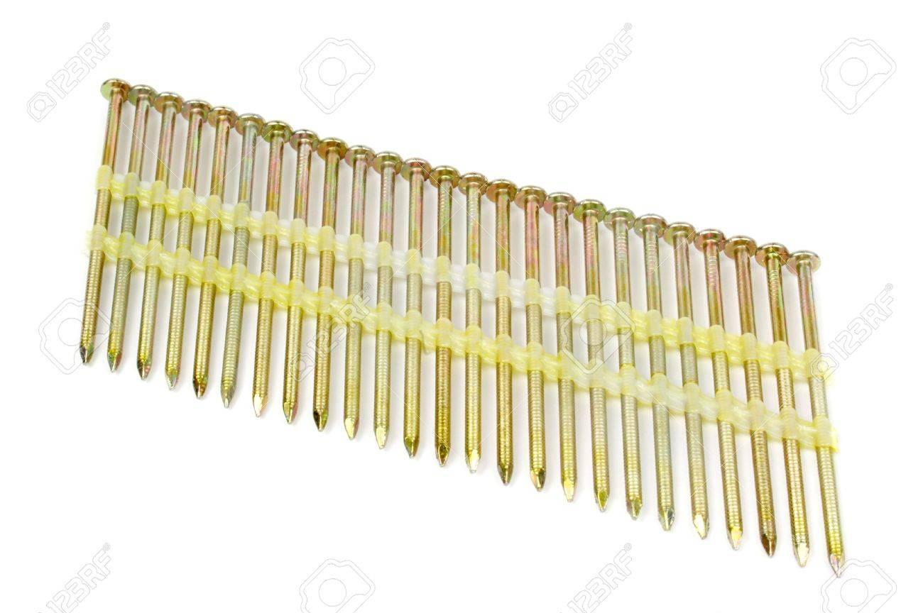 Nailgun Nails Used In A Framing Nail Gun Stock Photo, Picture And ...