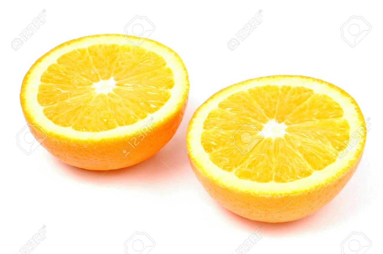 Photo of sliced orange isolated on white background - 648827