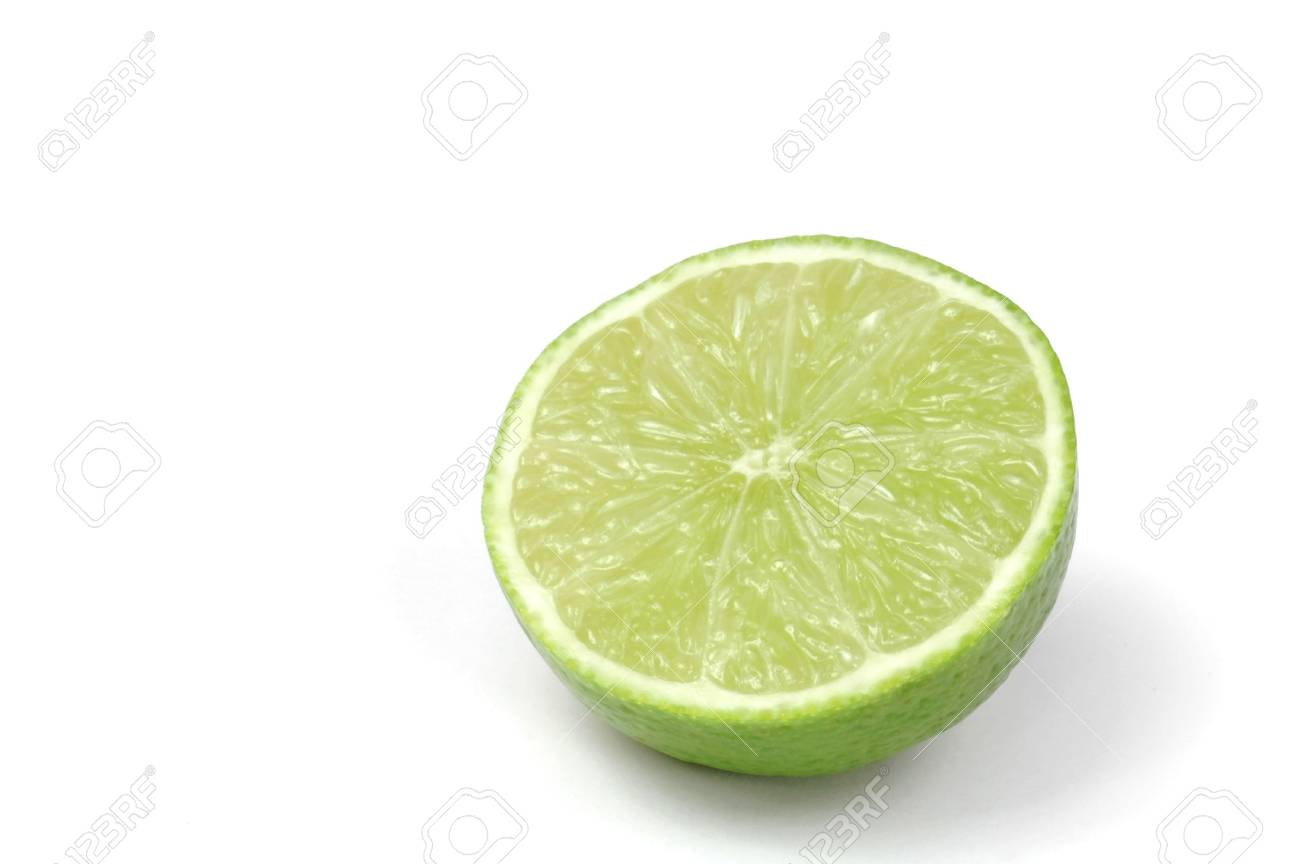 Lime Half Isolated on White - 694596