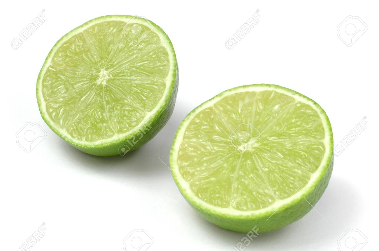 Lime Halves Isolated on White - 694597