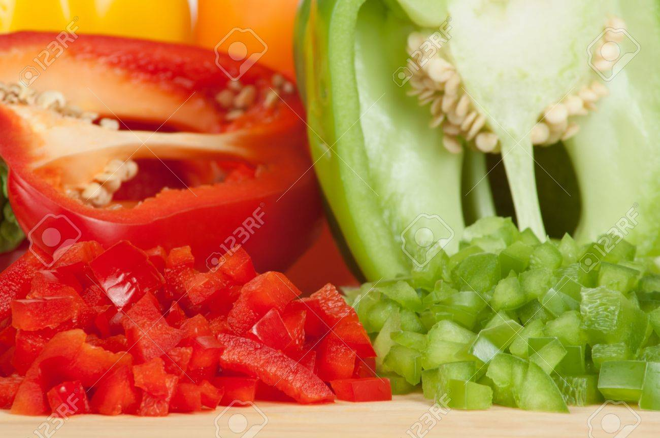 Sliced and Chopped or Diced Bell Peppers - 17083327