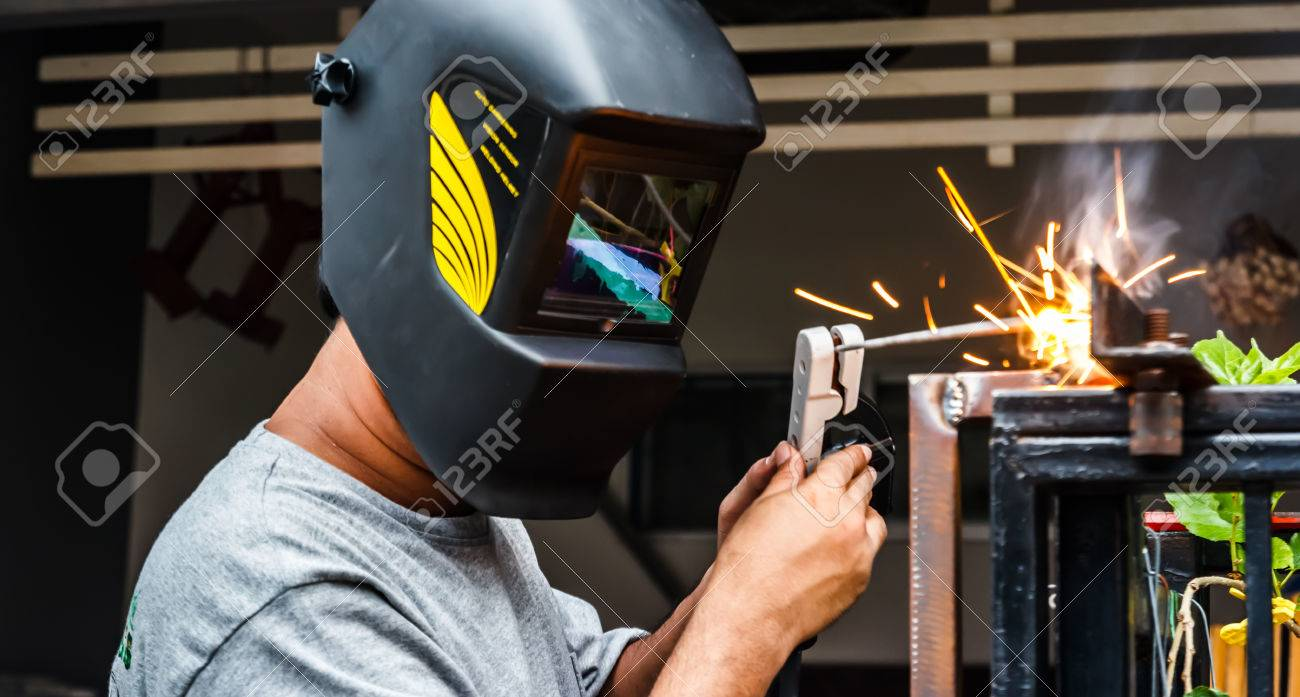 Electric Welding Technician Connecting Metal Stock Photo Picture And Royalty Free Image Image 62612386