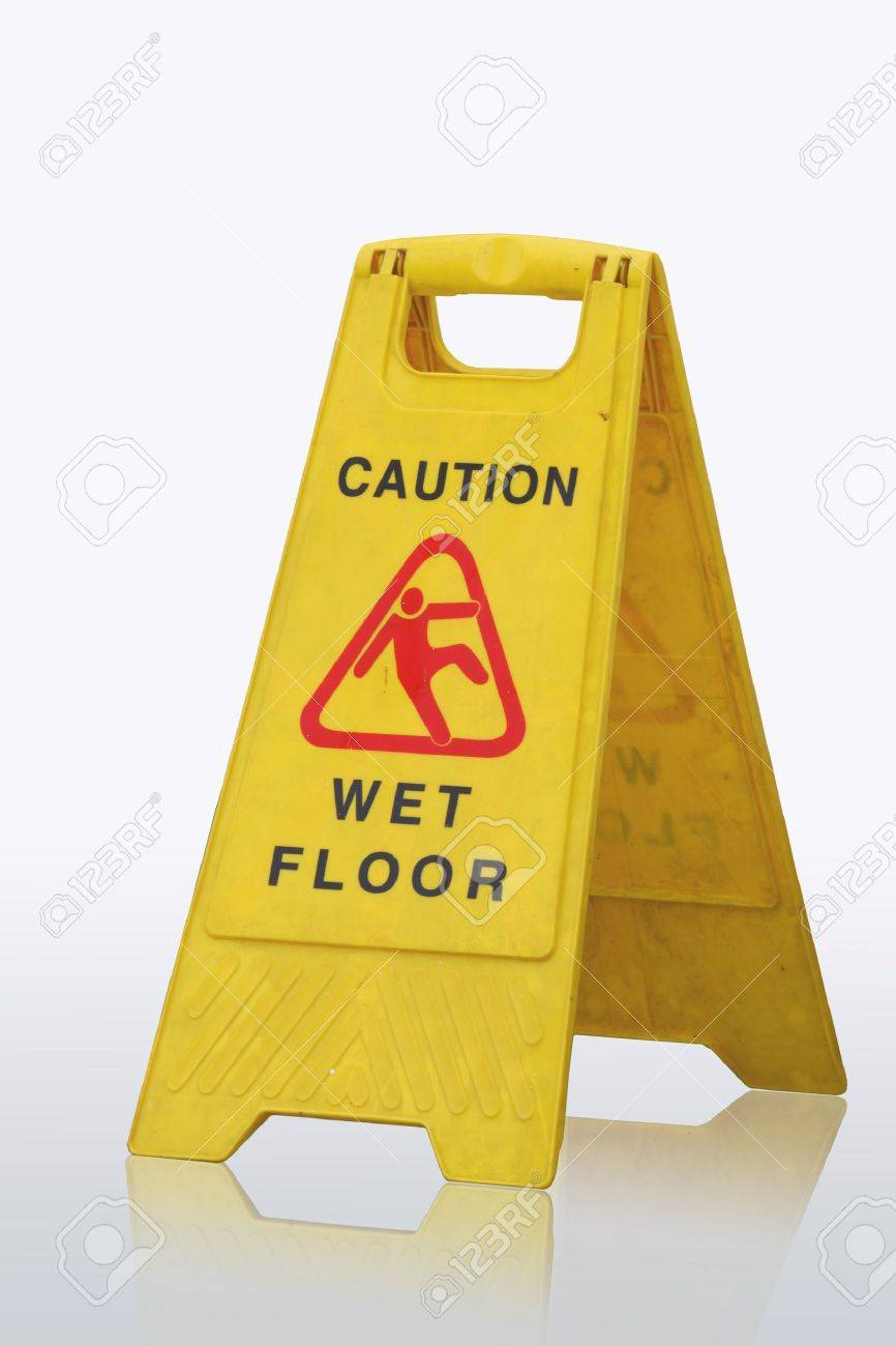 Sign showing warning of caution wet floor - 8012848