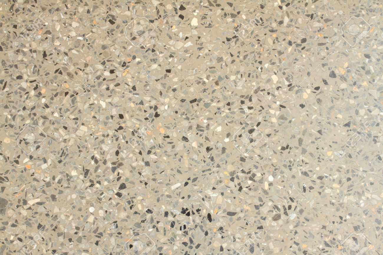 Terrazzo Floor Texture Background Flooring Material Consisting