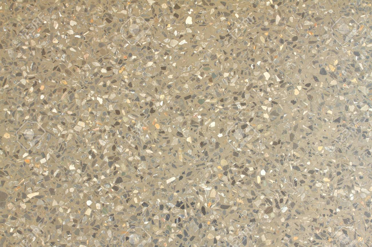 Terrazzo Floor Texture Background Consisting Of Chips Of Marble