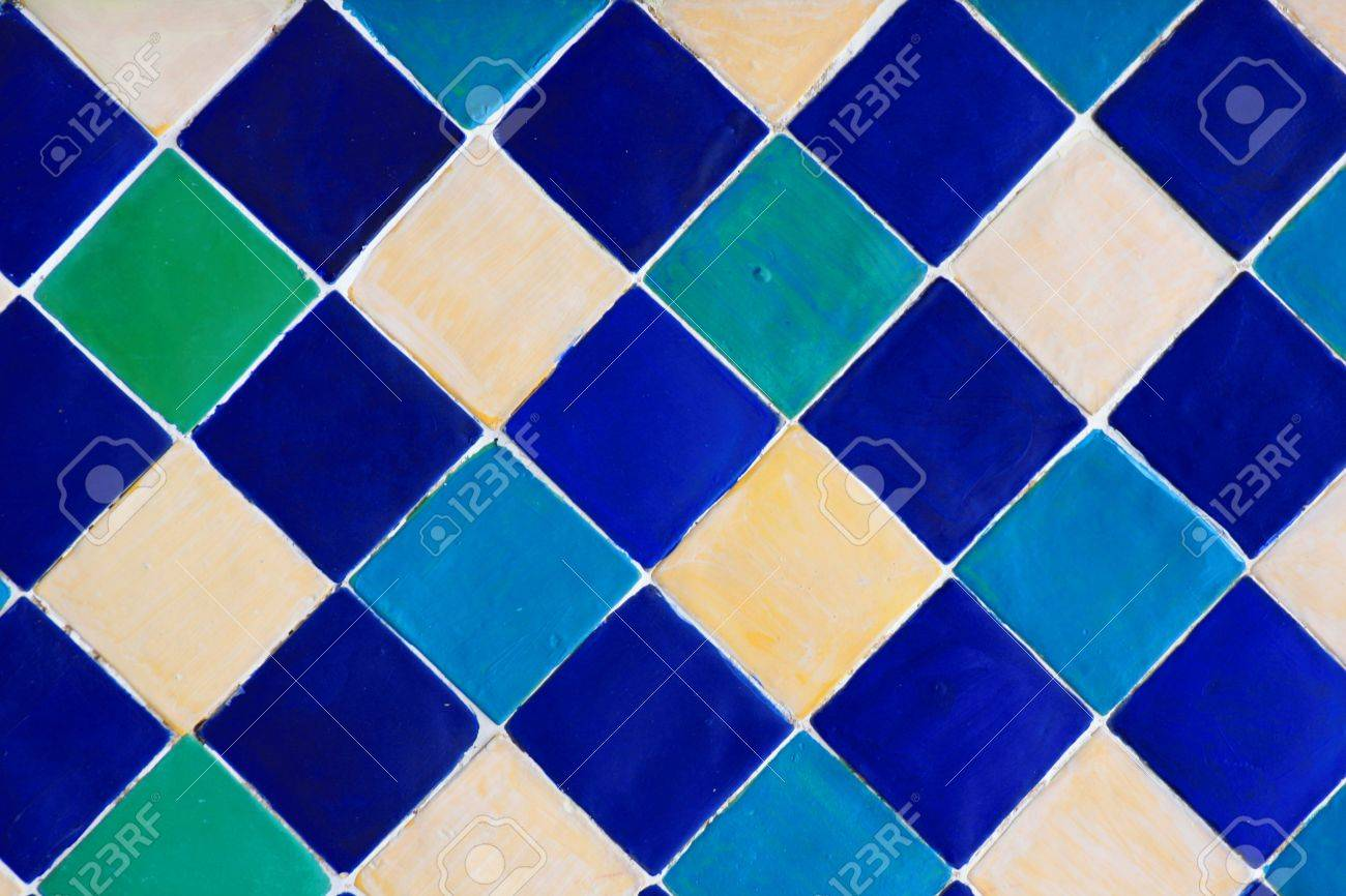 Colorful Seamless Ceramic Tiles Stock Photo, Picture And Royalty ...