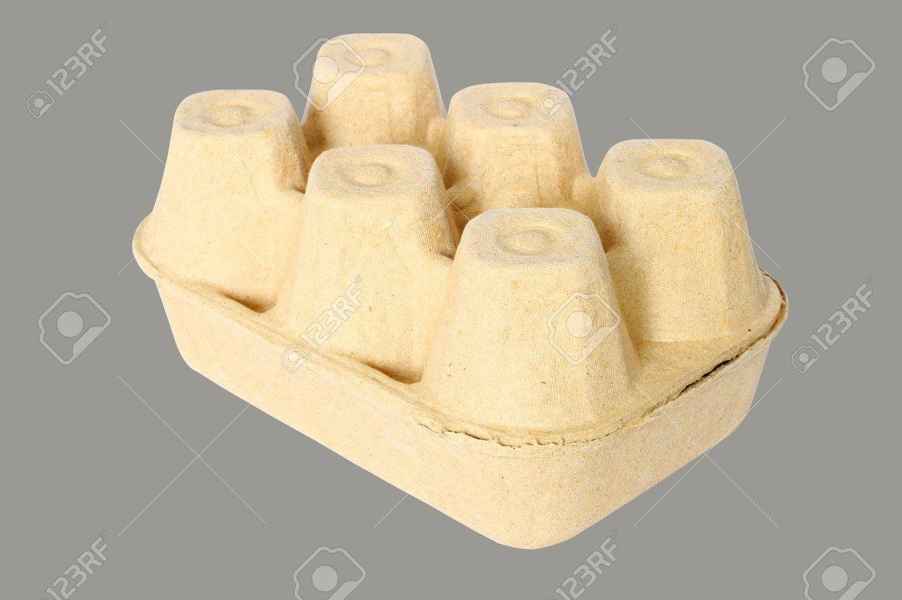 Cardboard containers for eggs,carton of eggs Stock Photo - 21830356