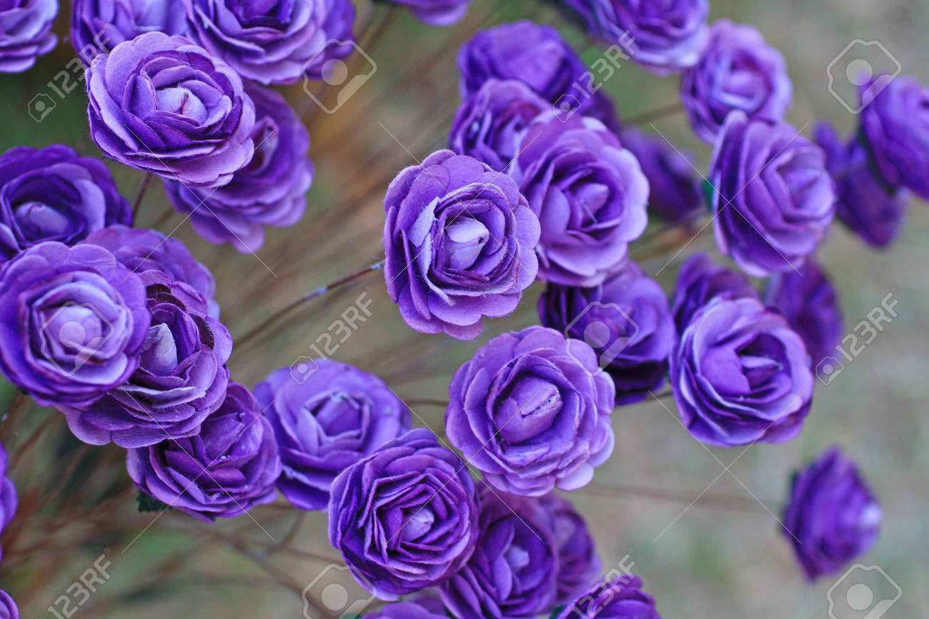 Handicraft paper flower as purple rose stock photo picture and handicraft paper flower as purple rose stock photo 24352656 mightylinksfo