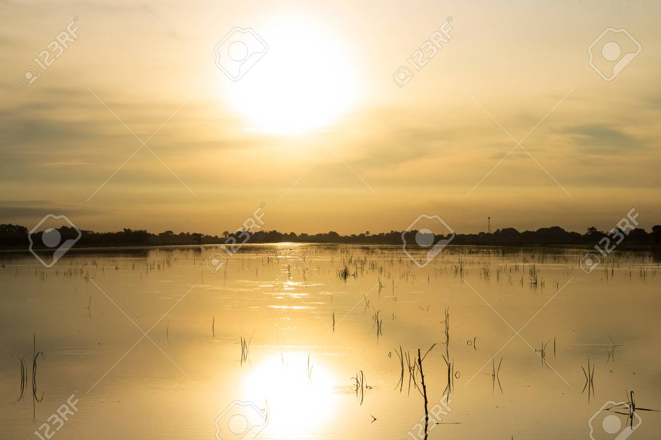 Morning Light >> Landscape Morning Light Water Reflection In Thailand Countryside