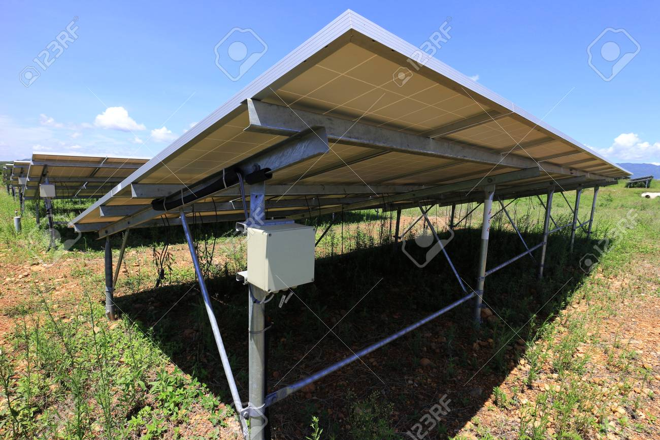 fuse box of solar farm installed under pv panels stock photo rh 123rf com