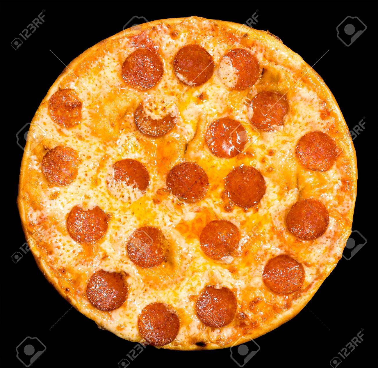 pizza with peperoni and cheese Stock Photo - 7995543