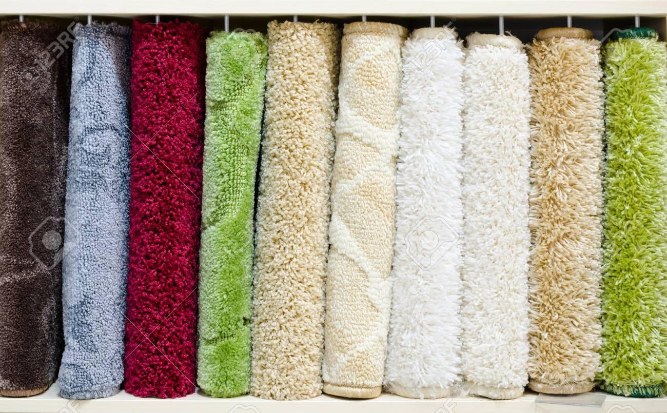 different relief carpet samples, a closeup shot Stock Photo - 14973889