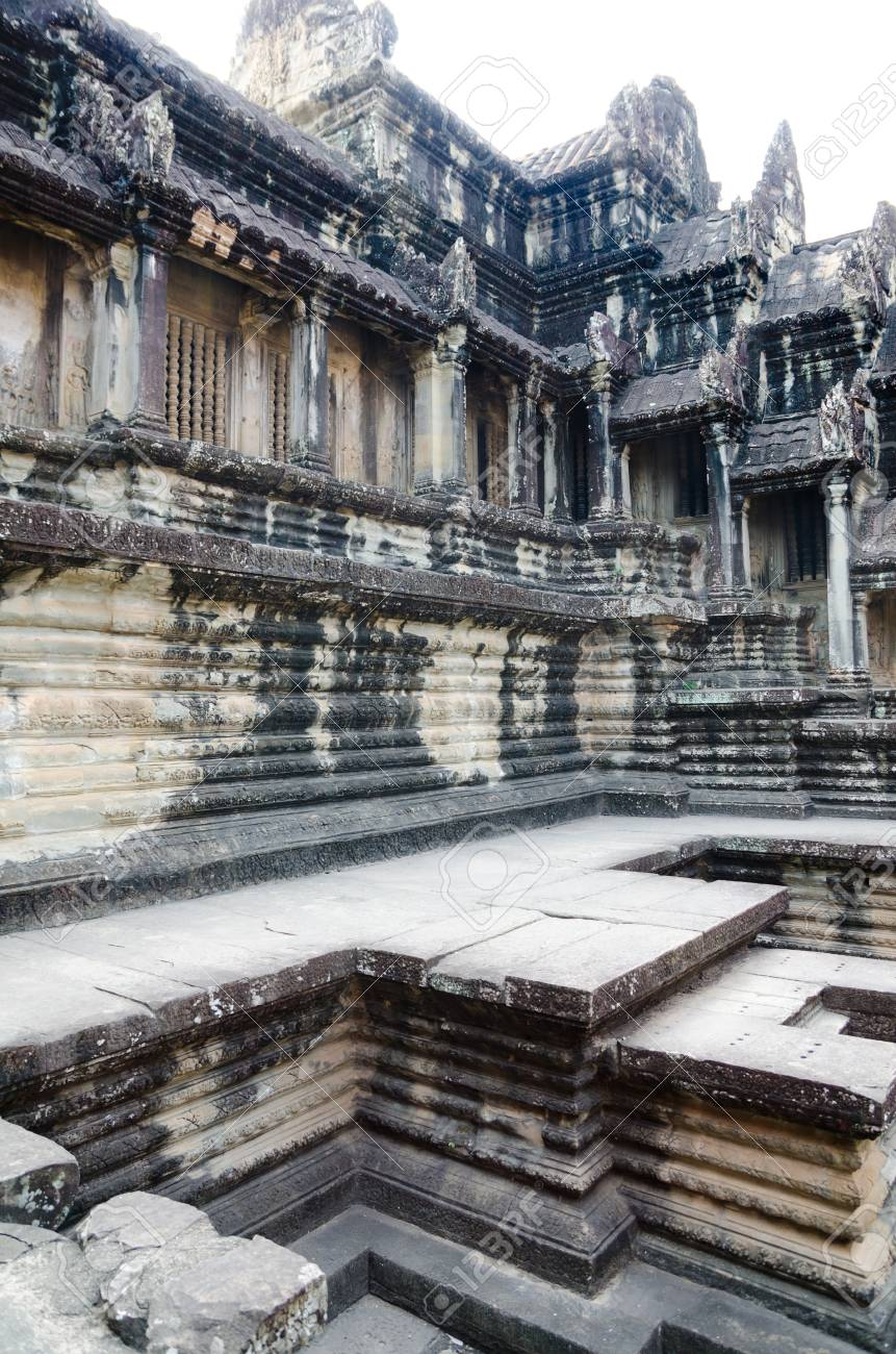 Angkor Wat is the most famous part of the ancient Khmer temple complex Angkor Stock Photo - 19221120