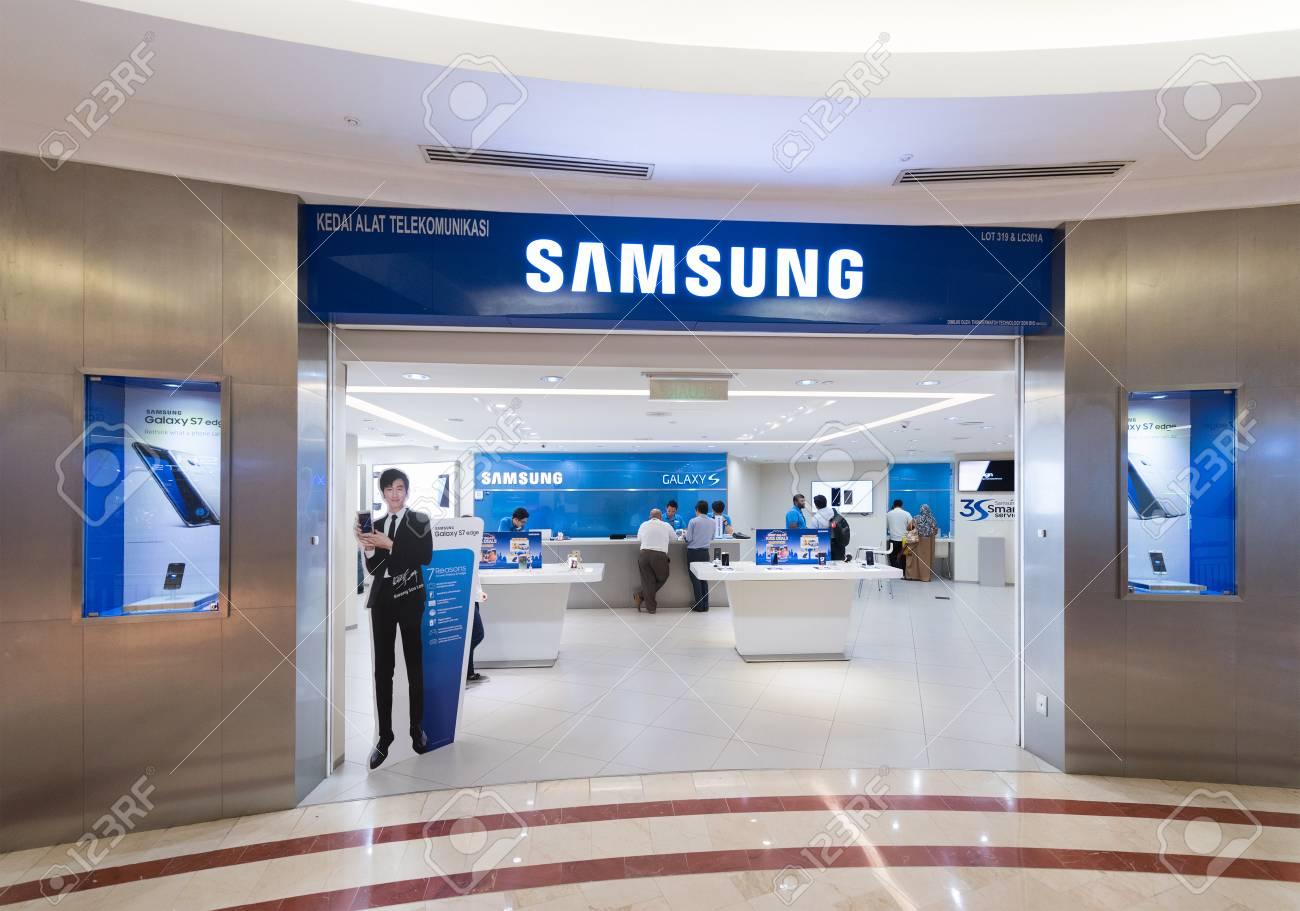 KUALA LUMPUR - JUNE 15, 2016: The Samsung store in the Suria