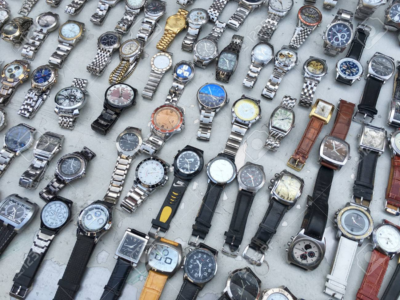 Second Hand Watches >> Seoul South Korea March 24 2017 A Lot Of Second Hand Watches
