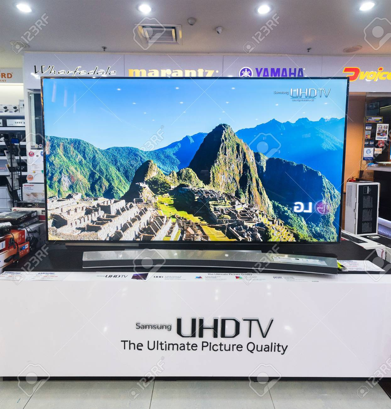 KUALA LUMPUR - MARCH 13, 2017: A Samsung TV store in Low Yat