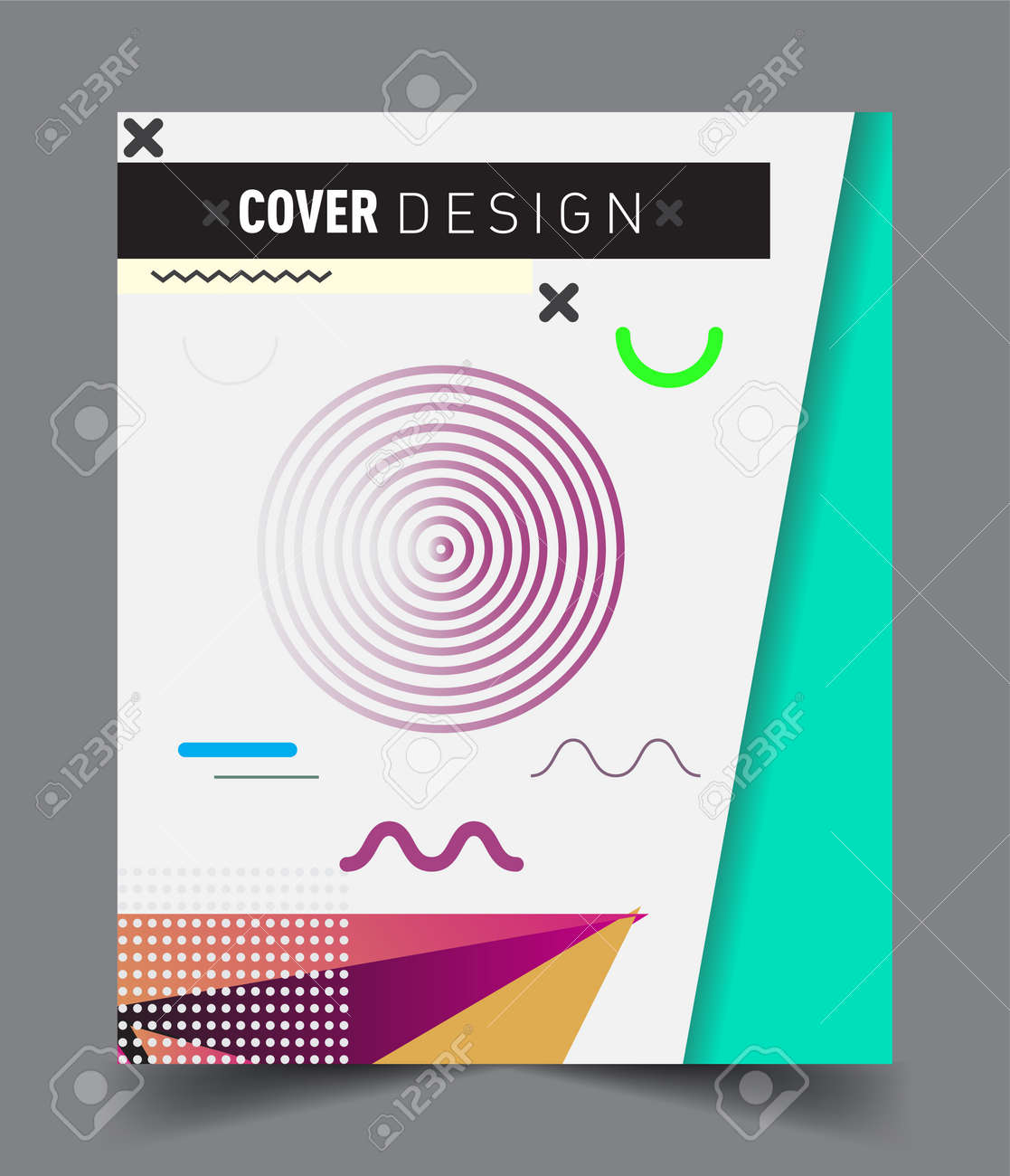 Abstract geometric pattern design and background. Vector templates for modern design, cover, template, decorated, brochure, flyer. - 156552752