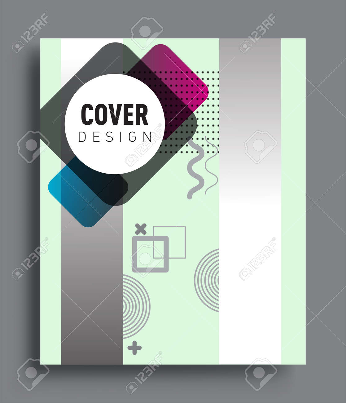 Minimalistic design, creative concept Abstract geometric pattern design and colorful background. Applicable for placards, brochures, posters, covers and banners. - 156806203