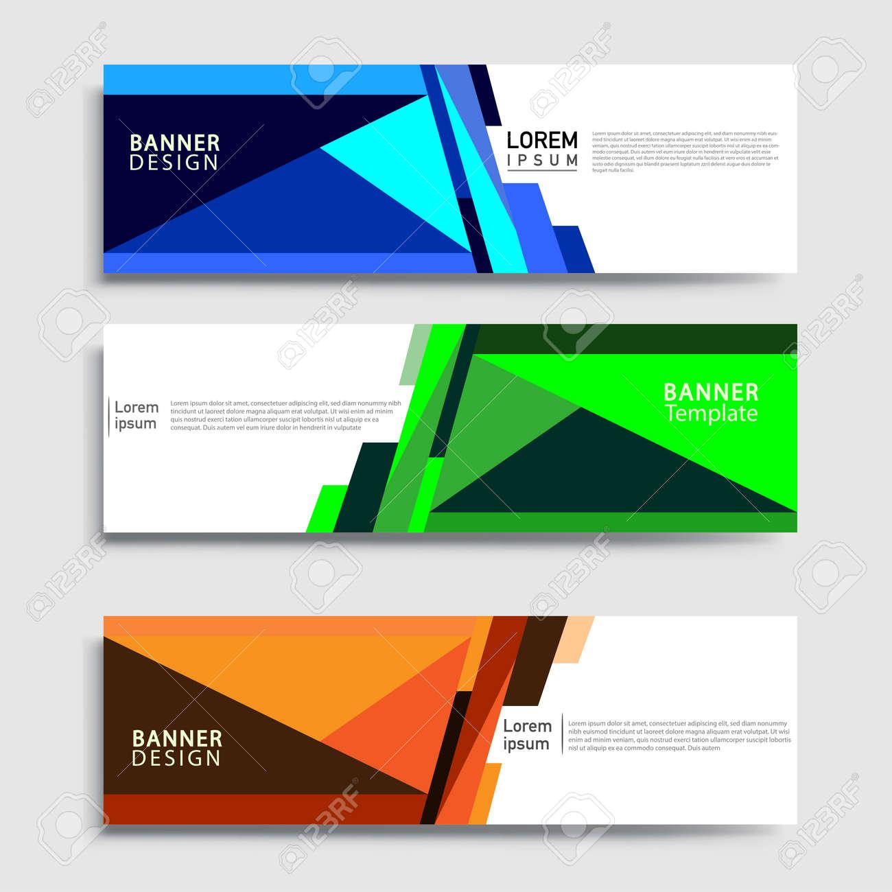 Vector abstract web banner design template sets. Collection of web banner template. Abstract geometric web design banner template. - 157545774