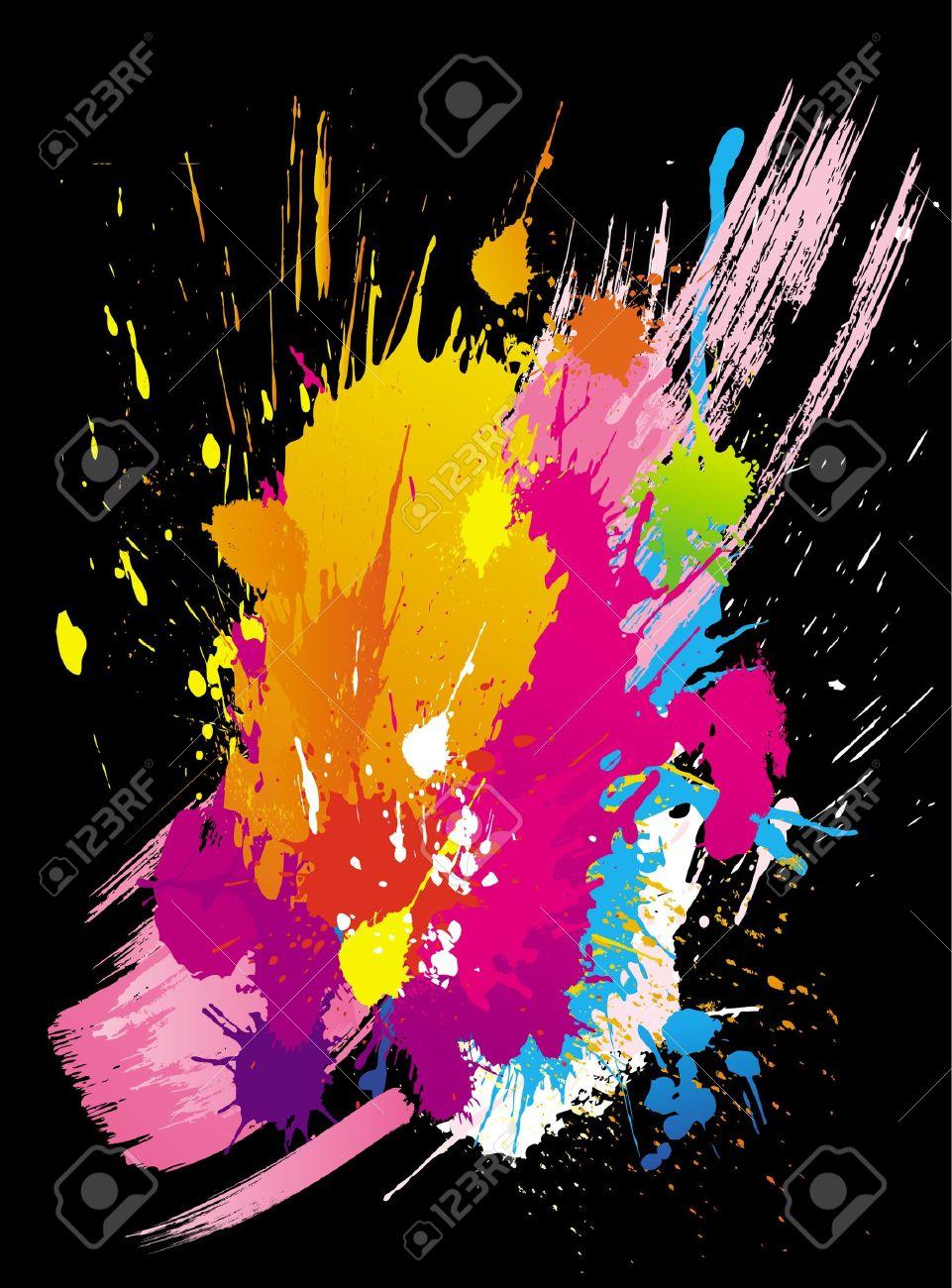 Graffiti Splatter Background