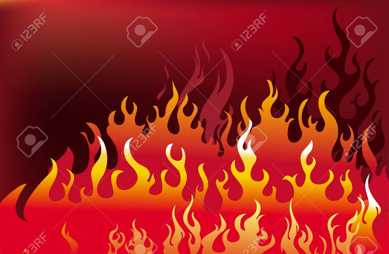 fire background Stock Vector - 9745233