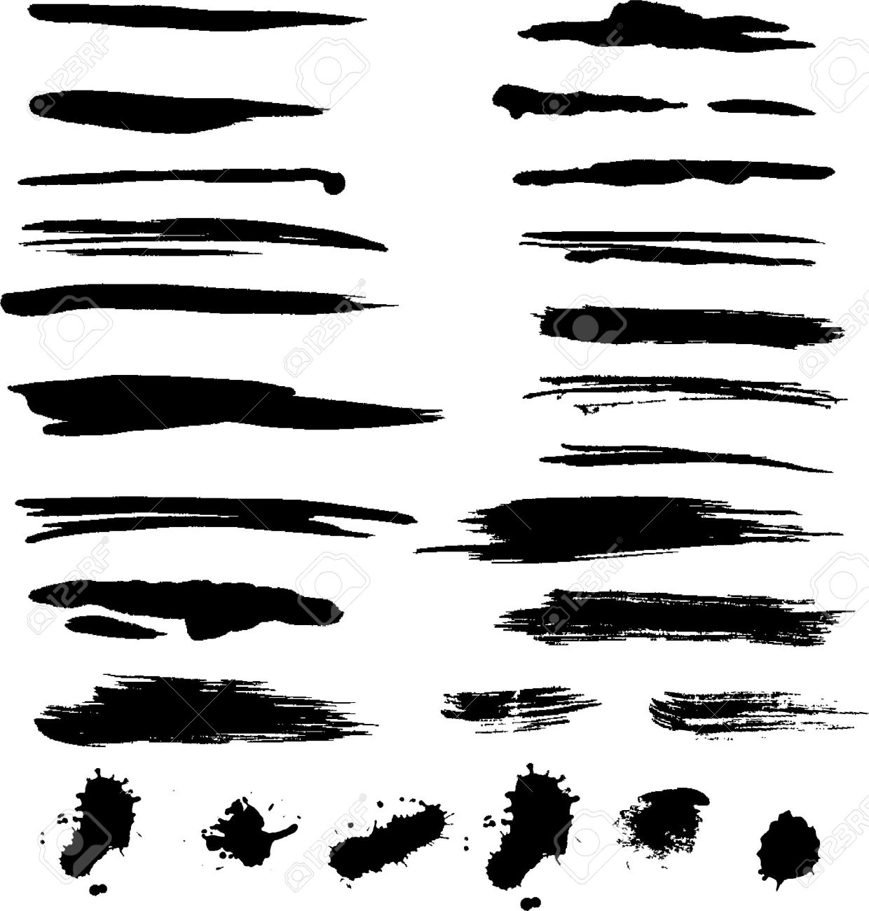 Grunge Brush Strokes Royalty Free Cliparts, Vectors, And Stock ...