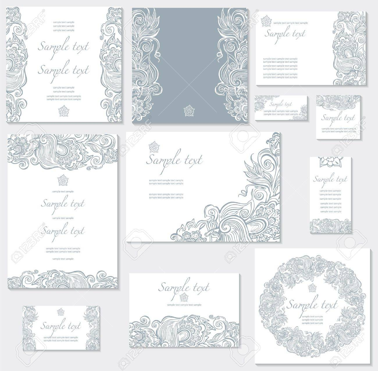Vector template for wedding cards - 12472947