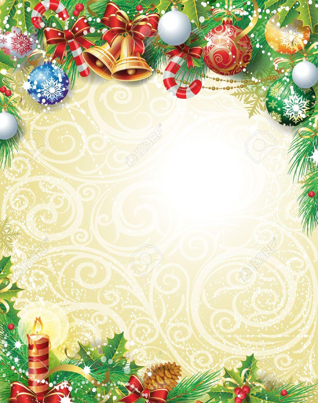 ビンテージ クリスマス背景 ロイヤリティフリークリップアート